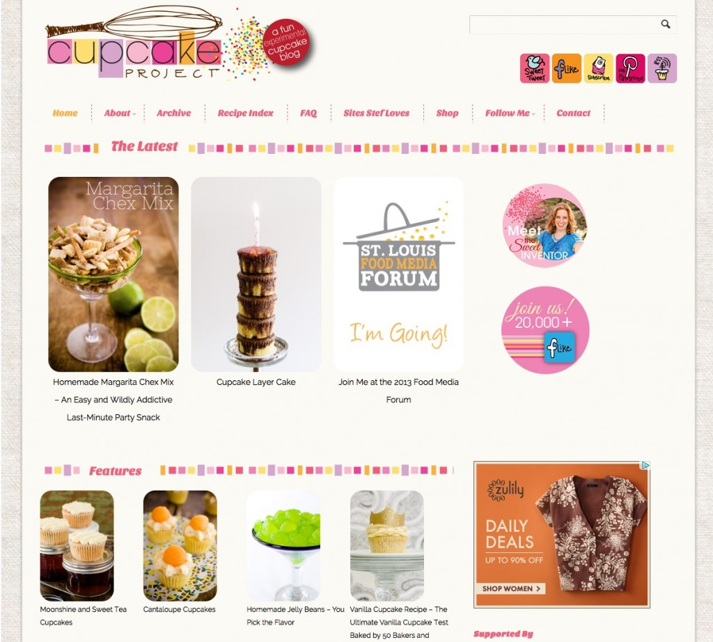 cupcake project screenshot