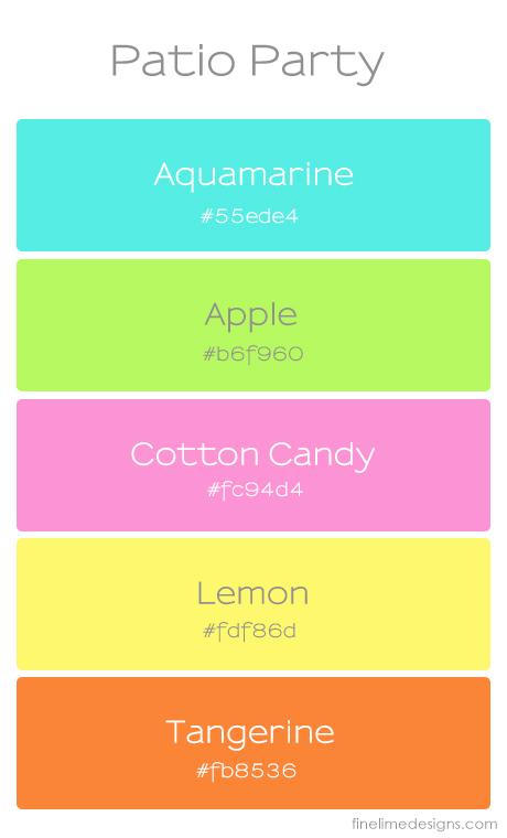 patio party palette | fine lime designs.