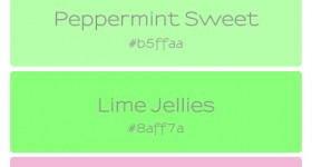 Candy Shoppe Colour Palette | Fine Lime Designs