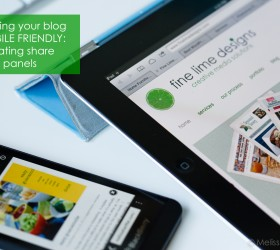 keeping your blog mobile friendly: floating panels | fine lime designs