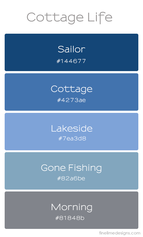 Cottage Life Palette | www.finelimedesigns.com