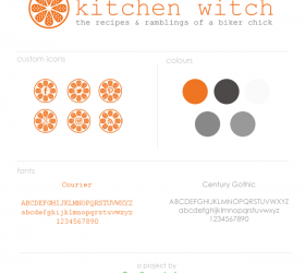 Kitchen Witch Branding Elements | www.finelimedesigns.com