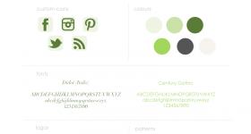 Gathering Green Branding   Fine Lime Designs