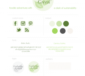 Gathering Green Branding | Fine Lime Designs
