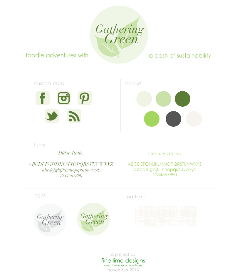 Gathering Green Branding | Fine Lime Designs